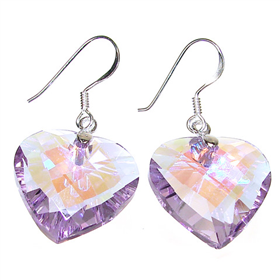 Amethyst Quartz Sterling Silver Earrings