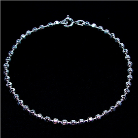Diamond cut Sterling Silver Bracelet