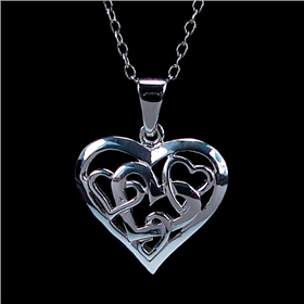 Valentine Heart Sterling Silver Pendant Jewellery
