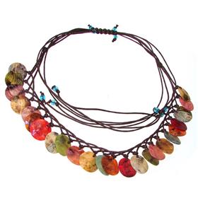 Amazing Rainbow Abalone Necklace 18 inches long