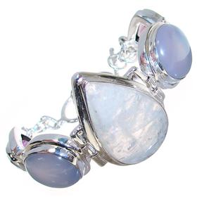 Chunky Incredible Multigem Sterling Silver Bracelet