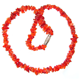 Glamouros Carnelian Agate Necklace