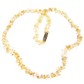 Glamouros Citrine Necklace 17 inches long