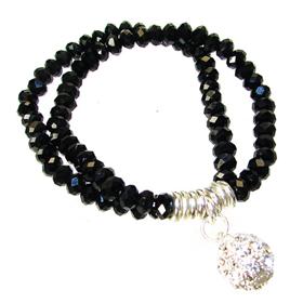 Amazing Black Onyx Stretch Bracelet