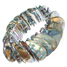 Rainbow Abalone Stretch Bracelet