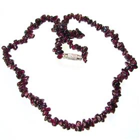 Glamorous Garnet Necklace 17 inches