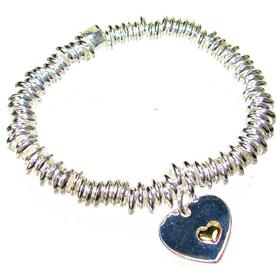 Assorted Heart Charm Bracelet