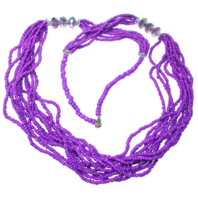 Wonderful Multi-Strand Assorted Bead Necklace
