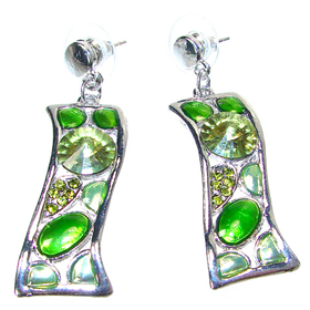 Unique Lime Quartz Fashion Earrings