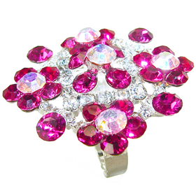 Glamorous Ruby Quartz Fashion Ring size O 1/2
