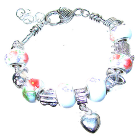 Assorted Heart Charm Fashion Bracelet