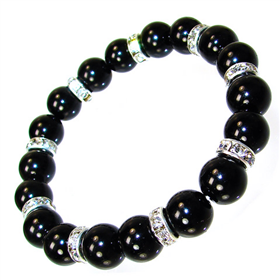 Amazing Black Onyx Stretch Bracelet