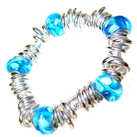 Summer Mixed Bead Stretch Bracelet