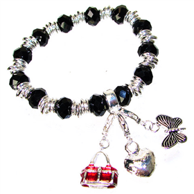 Assorted Heart Charm Bracelet