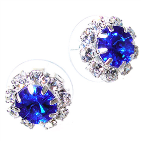 Blue Crystal Stud Fashion Earrings