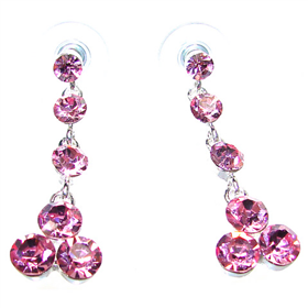 Pink Crystal Stud Fashion Earrings