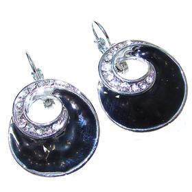 Large Elegant Onyx Earrings