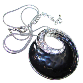 Elegant Onyx Necklace 18 inches long