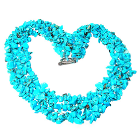 Chunky Stunning Turquoise Necklace 17 inches long
