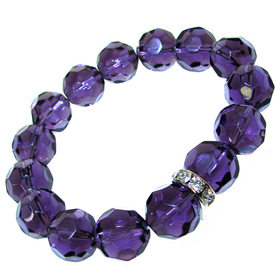 Amazing Amethyst Quartz Stretch Bracelet
