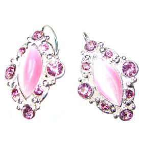 Pink Crystal Fashion Earrings