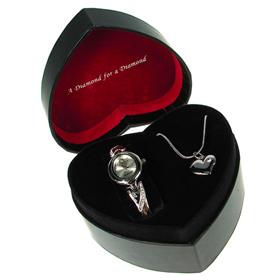 Boxed Identity Ladies Diamond Watch Set