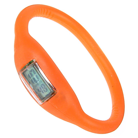 Boxed Orange Slim Digital Watch