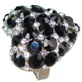 Elegant Black Onyx Fashion Ring size N 1/2