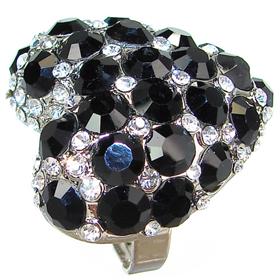 Elegant Black Onyx Fashion Ring size N 1/2