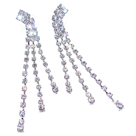Long! Shining Crystal Fashion Earrings