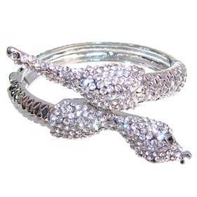 Massive White Topaz Fashion Jewellery Bracelet Bangle