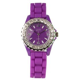 Eton Boxed Diamante Rubber Strap Watch