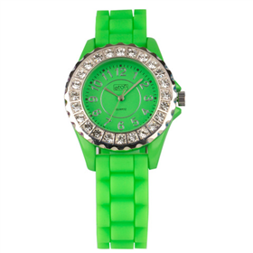 Eton Boxed Diamante Rubber Strap Watch