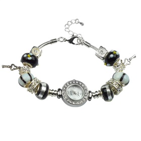 Eton Boxed Bead/Charm Bracelet Watch