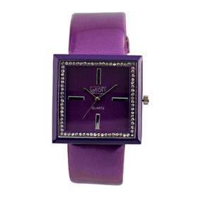 Eton Boxed Diamente Leather Straps Watch