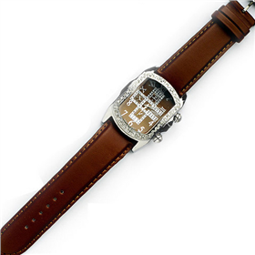 Eton Boxed Large Diamente Leather Straps Watch