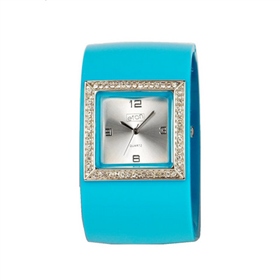 Eton Coloured Plactic bangle with diamante Watch