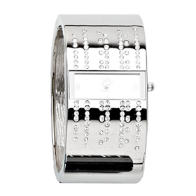 Eton Boxed Bangle with stones Watch
