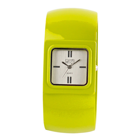 Eton Boxed Sq Case Coloured Metal Bangle Watch