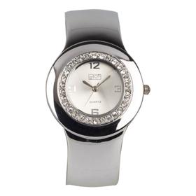 Eton Boxed Round Diamante Case Bangle Watch
