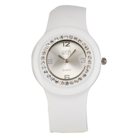 Eton Boxed Round Diamante Case Bangle Watch