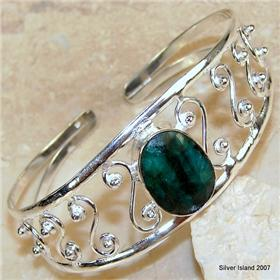 Plain Sterling Silver Gemstone Ring size P
