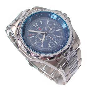 Boxed SwissExplorer Stainless Steel Strap Watch