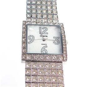 Charms Boxed Round Diamente Bracelet Watch