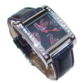 Figaro Boxed Diamente Leather Straps Watch