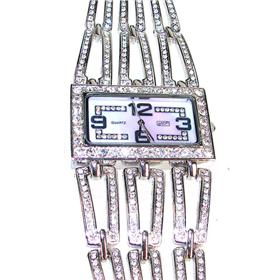 Boxed Eton Broad Bracelet with Diamante Open Links Watch