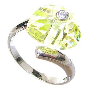 Artisan Citrine Quartz Sterling Silver Ring size N 1/2