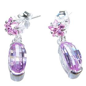 Splendid Amethyst Sterling Silver Earrings