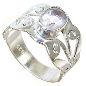 Delightful Amethyst Sterling Silver Ring size L 1/2