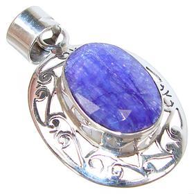 Artisian Sapphire Sterling Silver Pendant